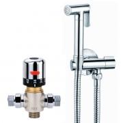 Avaflo Premier De Luxe Chrome Bidet Thermostatic Shower Kit