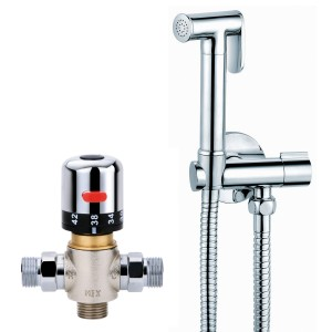 Avaflo Premier De Luxe Chrome Bidet Thermostatic Shower Kit